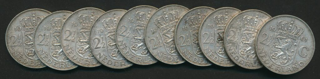 nederland zilver 2 5 gulden