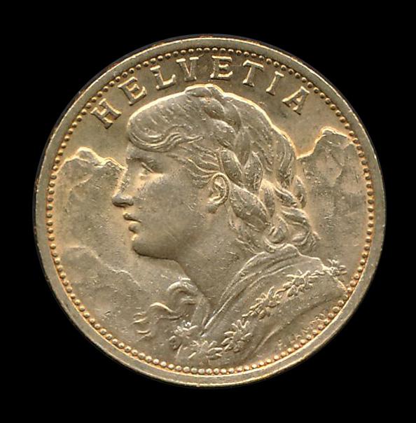 suisse goud 20 fr