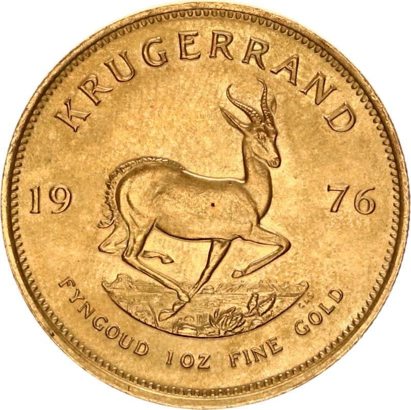 krugerrand 1976 goud fyngoud 1 oz fine gold