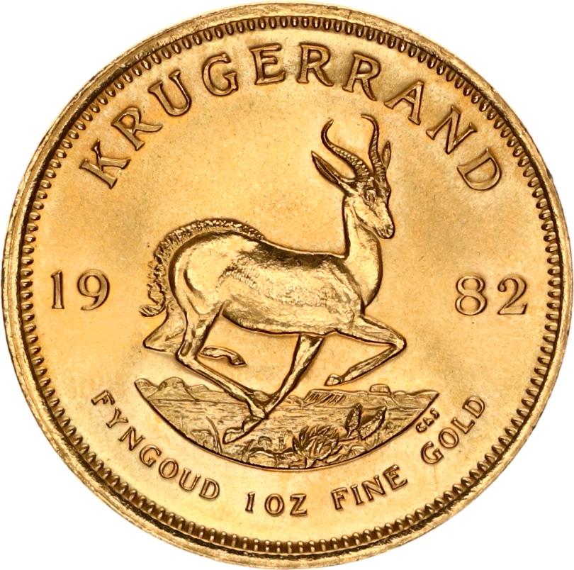 krugerrand 1982 goud fyngoud 1 oz fine gold