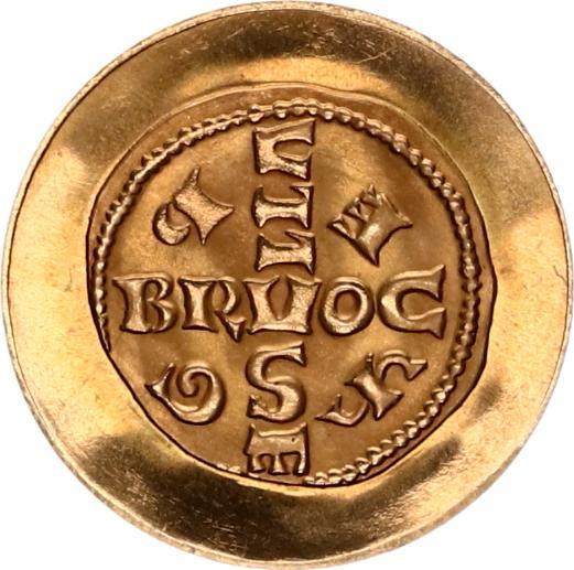 1000 jaar aanmunting te brussel 965-1965 goud zijde 965