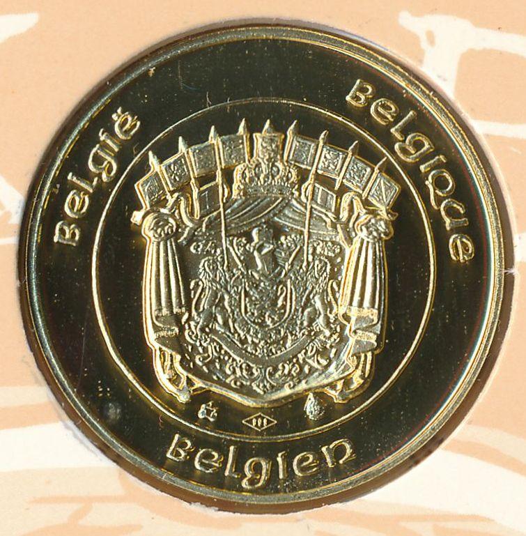9 8 1993 albertus II rex belgarum goud belgië