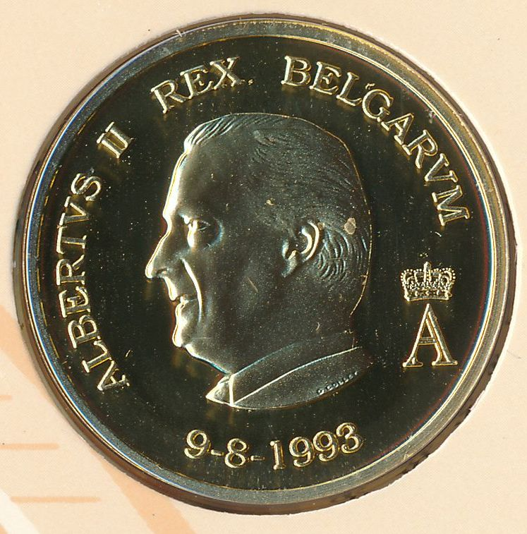 9 8 1993 albertus II rex belgarum goud