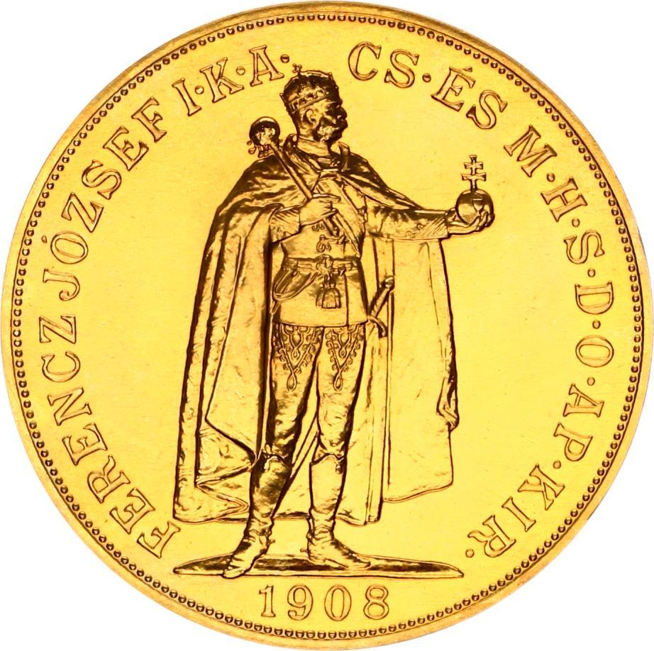 Goud 100 Korona Magyar Ferencz Jozsef 1908
