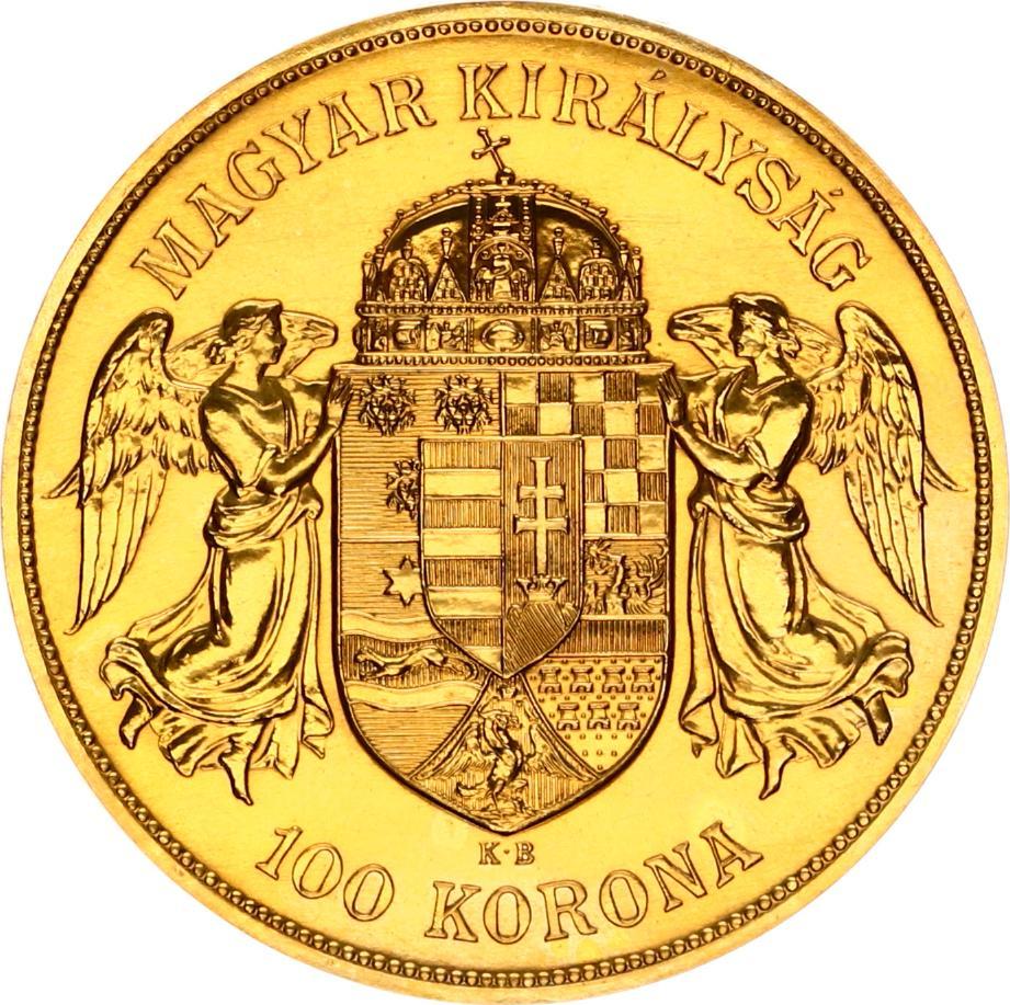 Goud 100 Korona Magyar Ferencz Jozsef Kiralysag