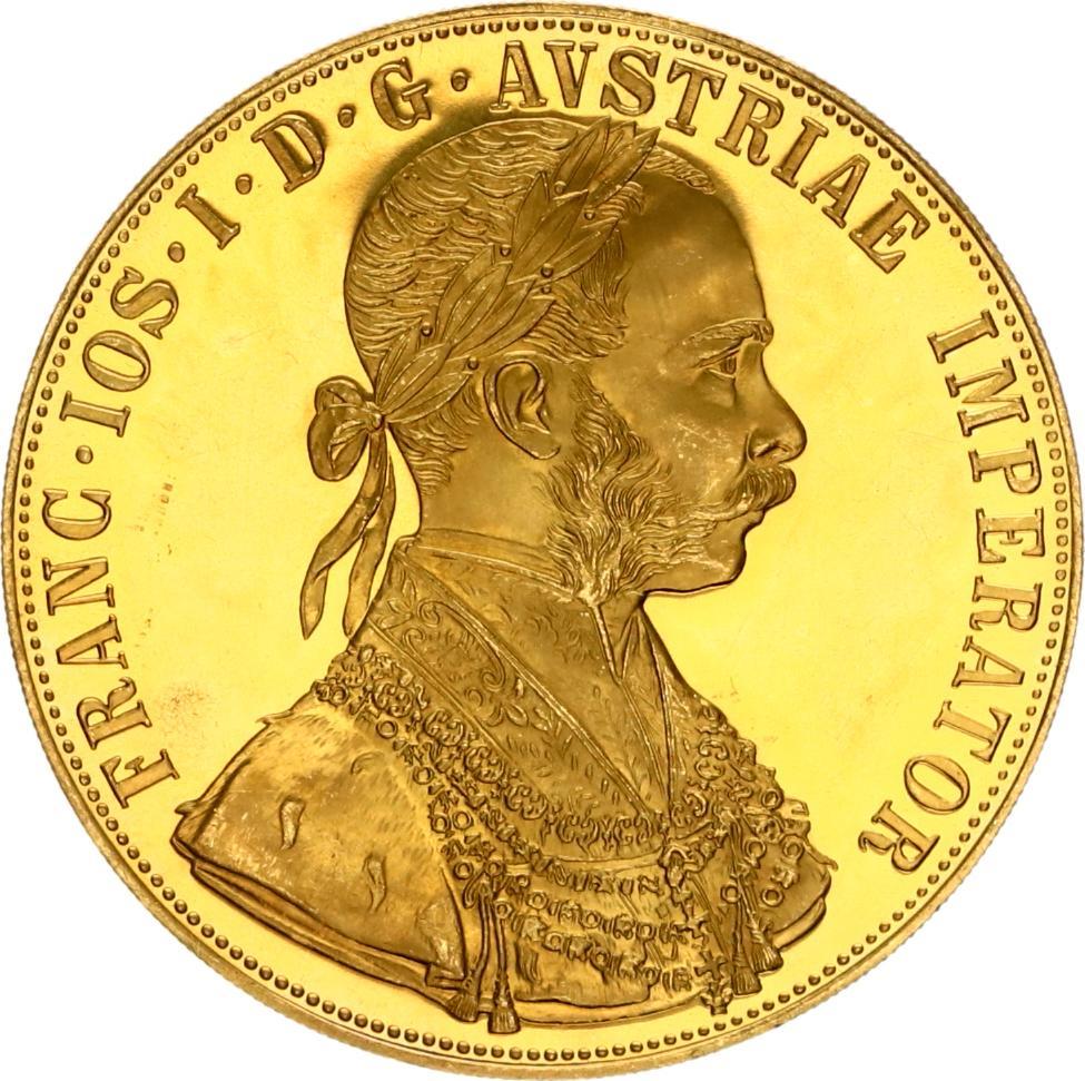 100 corona 4 dukaat 1915 goud oostenrijk