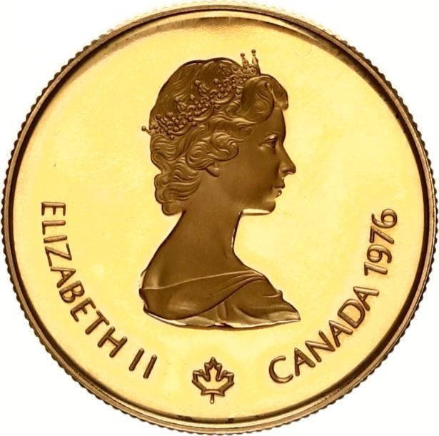 canada 100 dollars goud elisabeth 1976