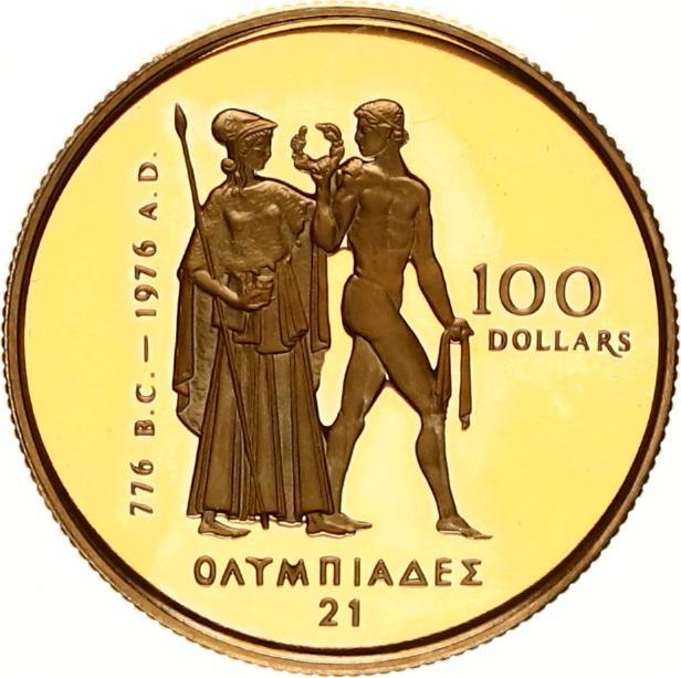 canada 100 dollars goud olympische spelen