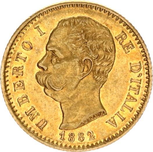 umberoto I italia 1882 20 lire goud